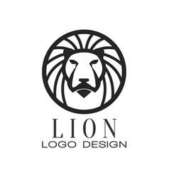 lion logo classic vintage style design element vector image