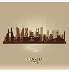 Manama Bahrain city skyline silhouette vector