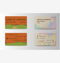 Modern business card print templates personal vector