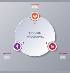 Modern infographic numbered 3 options vector