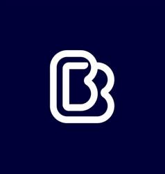 Modern professional logo monogram bb in business vector