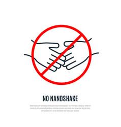 No handshake warning sign healthcare concept vector