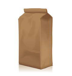 Paper food bag package of coffee flour sugar vector