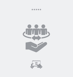 People network - minimal modern icon vector