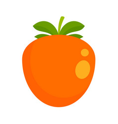 Persimmon icon flat style vector