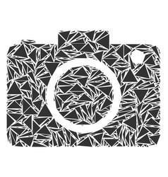 photo camera mosaic of triangles vector image