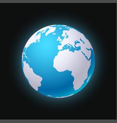 Planet earth sillhouette 01 vector