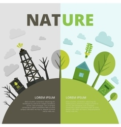 Planet Ecology Composition vector