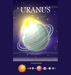 planet uranus in solar system vector image