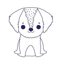Puppy dog domestic sitting cartoon pets vector