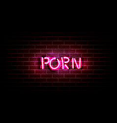 Realistic neon pink light sign decoration vector