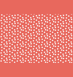 red pastel color background scattered dots vector image