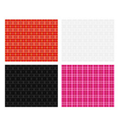 seamless modern thai plaid pattern vector image