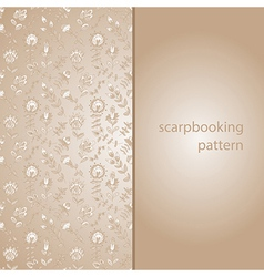 Seamless texture with flowers for scarpbooking vector image