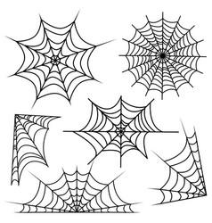 Set of web spider cobweb vector