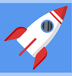 shipping mail business start-up rocket vector image
