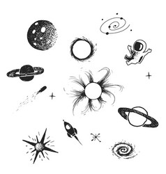 Space elements collection vector