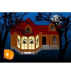 Spooky house vector
