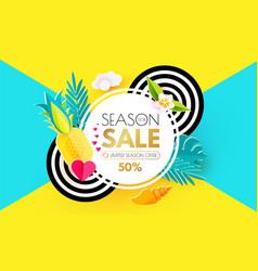 summer sale layout design template paper art vector image