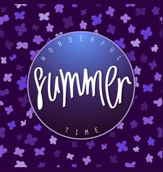 Summer season banner design vector