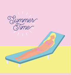 Summer time vacation vector