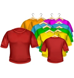 T-shirt multicolored vector image