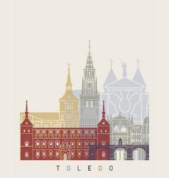 toledo v2 skyline poster vector image