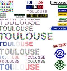 Toulouse text design set vector image