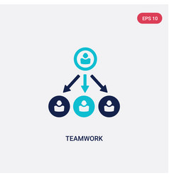 two color teamwork icon from human resources vector image