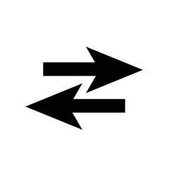 two opposite arrows icon icon simple element two vector image