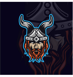 Vikings head logo vector