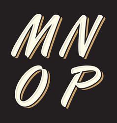 vintage letter mnop vector image