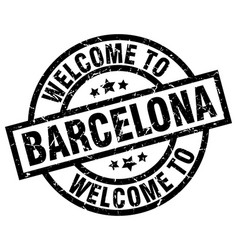 welcome to barcelona black stamp vector image vector image