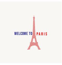 welcome to paris logo template design vector image