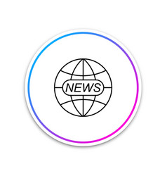 world and global news concept icon isolated on vector image