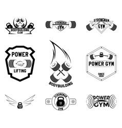 gym emblems logo design vector image vector image