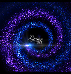 magic glowing trails of particles vector image