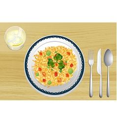 Rice dish vector image vector image