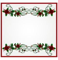 Rose floral frame background vector image vector image