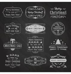 Christmas Chalkboard Set2 vector image vector image
