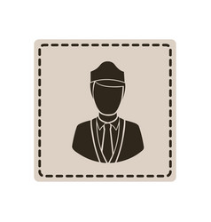 emblem guard person icon vector image