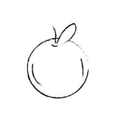 figure delicious and healthy orange fruit vector image