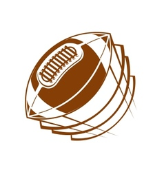 Football or rugby ball flying through the air vector image vector image
