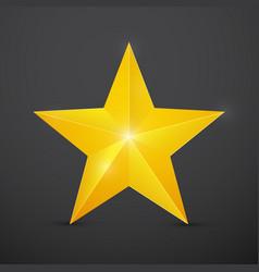 golden christmas star on dark background vector image