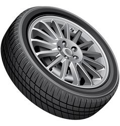 Passengers cars wheel vector image vector image