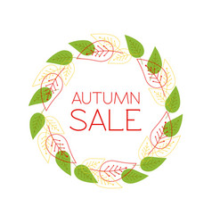 round frame with the text autumn sale a wreath vector image vector image