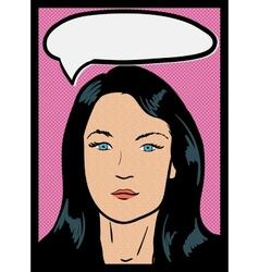 Vintage Comic Girl vector image vector image