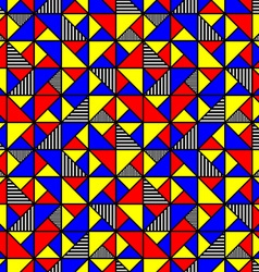 bright colored pattern with squares and triangles vector image