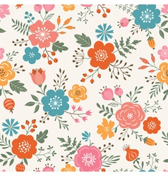 Flower pattern vector image