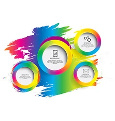 Modern circle colorful can be used for workflow vector image vector image